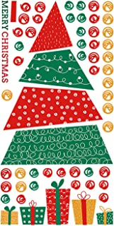 Woohooens Navidad Pegatina Calcomanías para Ventanas Fiesta Extraíbles Adorable Papá Noel Nieve árbol de Navidad Alce Pare...