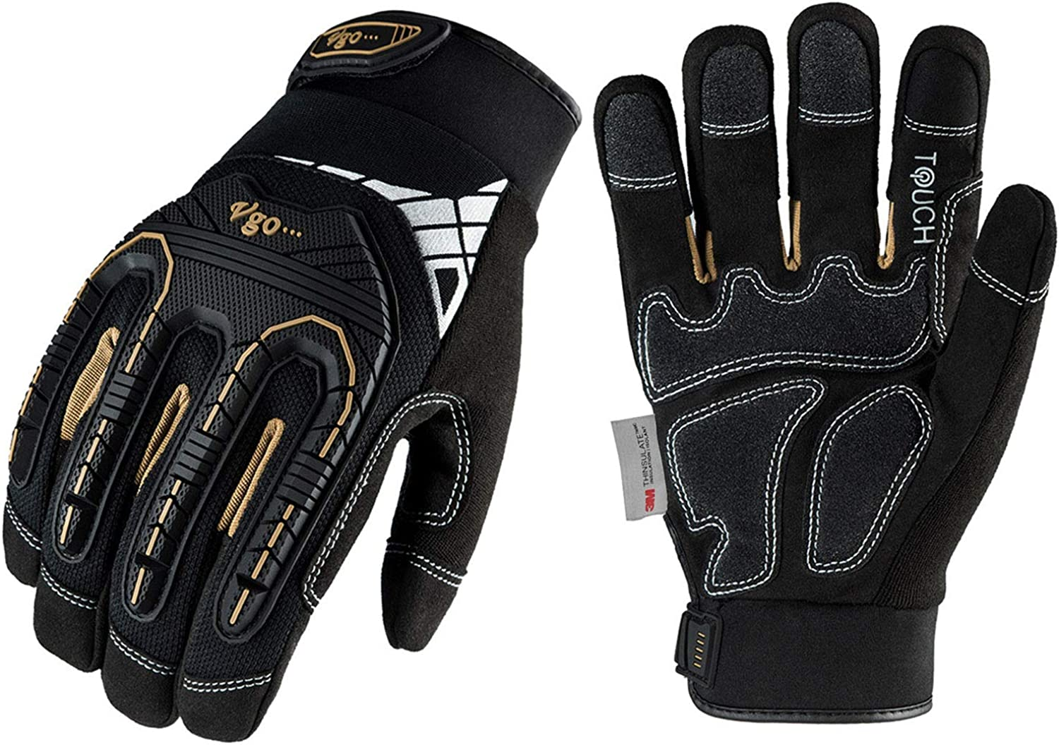 Vgo Heavy-Duty Synthetic Leather ! Super beauty product restock quality top! Rig Lowest price challenge Gloves Mechanic Work
