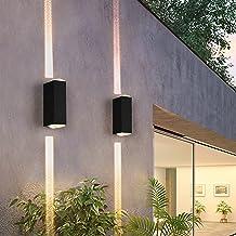 XINGYAO CREE-LED-wandlamp voor buiten, smal, voor huis, zwart, 15 graden, 180 mm, 120 mm, veranda IP65, buitenlicht (kleu...