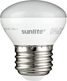 Sunlite 80431-SU LED R14 Mini-Reflector Floodlight 4 Watt (25W Equivalent) Light Bulbs, Medium (E26) Base, 2700K, Warm White, 1 Pack