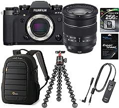 Fujifilm X-T3 Mirrorless Camera with XF 16-80mm F4.0 R OIS WR Lens, Black - Bundle With Fuji 256GB SDXC U3 Card, Fuji RR-100 Remote Release, Lowepro Tahoe BP 150 Backpack, Joby GorillaPod 3K Kit, More