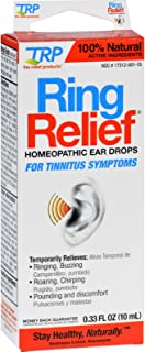 TRP Homeopathic Ear Drops - Ring Relief - For Tinnitus Symptoms - Natural - .33 oz (Pack of 2)