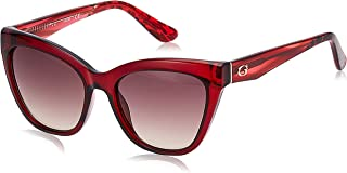 Guess Women's Sunglasses GU754066F55 - Shiny Red/Brown - Injected
