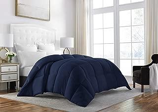 Sleep Restoration Down Alternative Comforter 1400 Series - Best Hotel Quality Hypoallergenic Duvet Insert Bedding - Queen - Navy