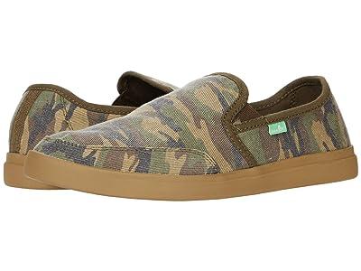Sanuk Vagabond Slip-On Sneaker (Woodland Camo) Men