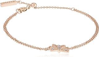 Olivia Burton Women'S Brass Rose Gold&Blue Chain Bracelets -OBJ16MBB04