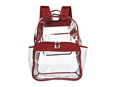 Baggallini Clear Event Compliant Large Backpack (Deep Red) Backpack Bags
