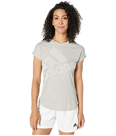adidas Badge Of Sport Logo Tee (Medium Grey Heather) Women