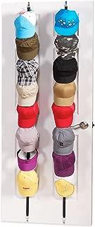 Baseball Cap Holder Organizer Hat-Rack - Hold Adjustable 20 Hats (black-2pack)