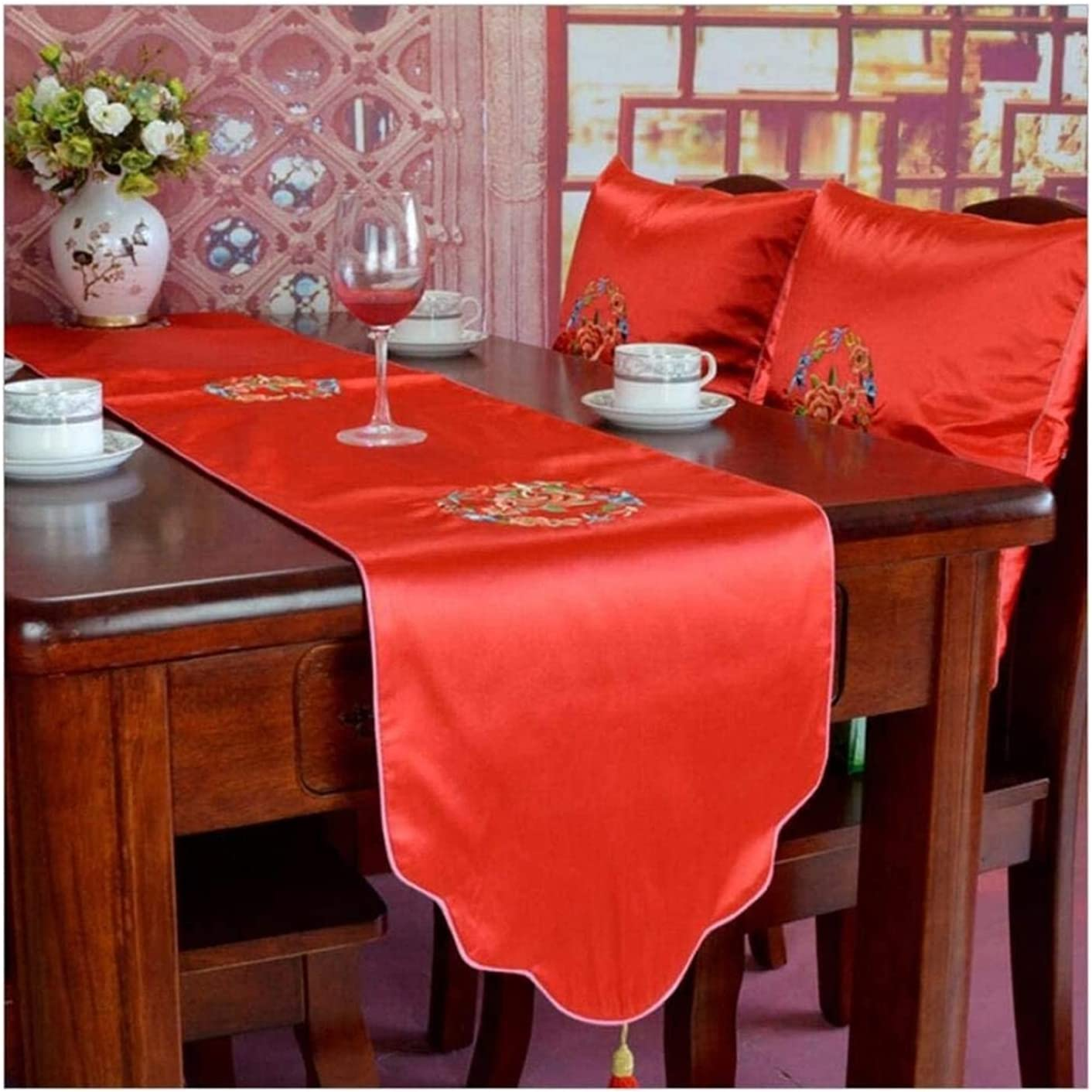 Seupeak Chinese Style Finally resale start Table Cloth Tablecloth - Large discharge sale Home Runner