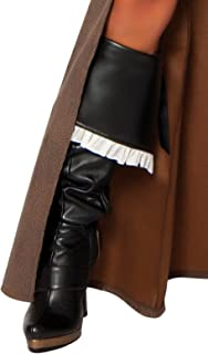 Deluxe Pirate Captain Boot Cover, Black, One Size