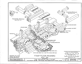 Historic Pictoric Structural Drawing HABS RI,4-PROV,33- (Sheet 12 of 20) - Granite Block, 6-18 Market Square, Providence, Providence County, RI 55in x 44in