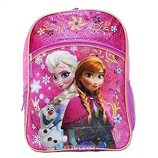 Disney Frozen Anna & Elsa Girls' Backpack With Amber Trim - Purple