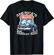 America's Highway Route 66 road Vintage retro car T-Shirt