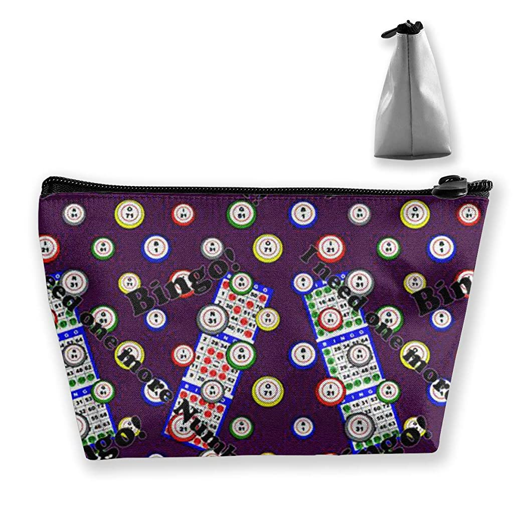 Cosmetic Bag Bingo I Need One More Numbe Travel Makeup Portable Travel Toiletry Pouch Makeup Organizer Clutch Bag With Zipper