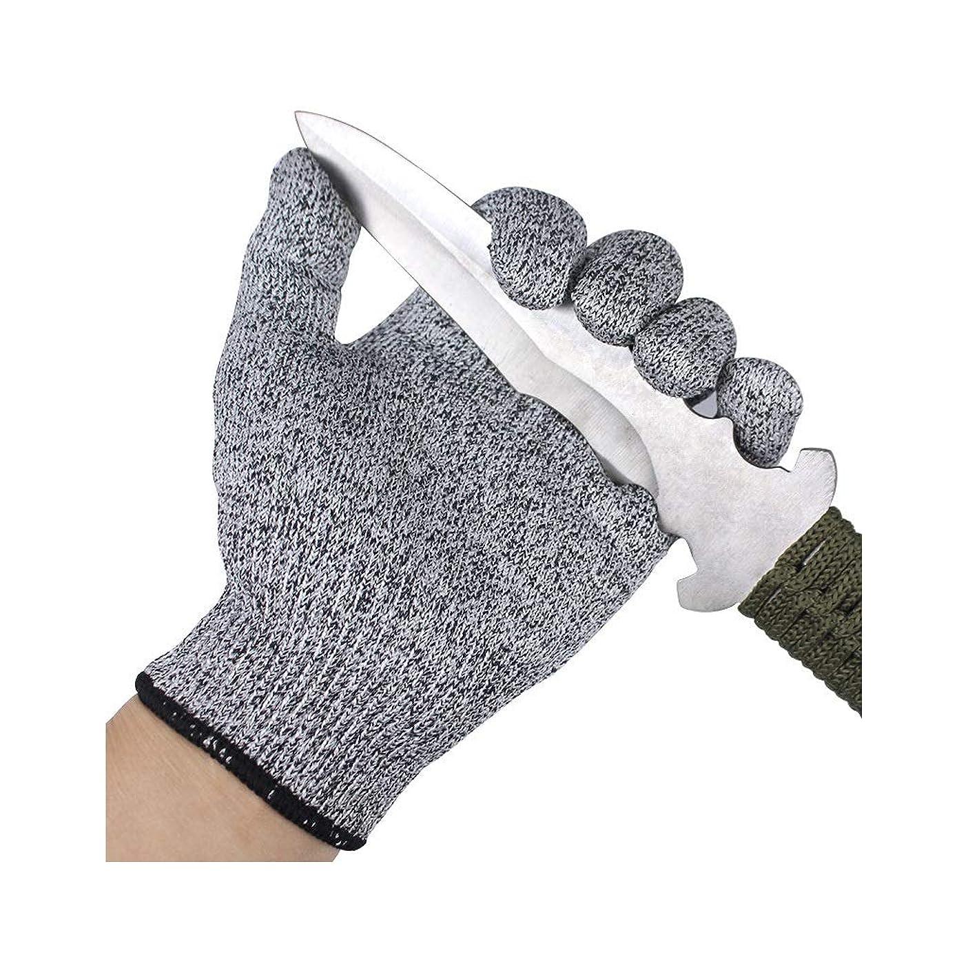耐カット手袋 安全のためのカットプルーフ手袋、調理、切断またはスライス、男性と女性のための理想的なキッチングローブ、食品グレード、軽量で柔軟 (Size : XS)