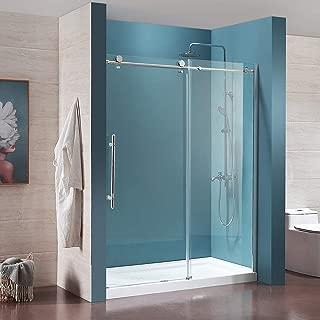 Mecor Frameless Sliding Shower Door 56