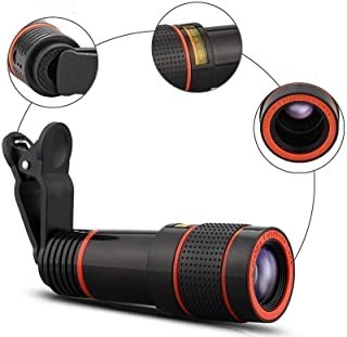 Cell Phone Camera Lens Kit,Universal Monocular Telescope,Telephoto Zoom Camera Mobile Smartphone Lens,Mount for Most Smart...