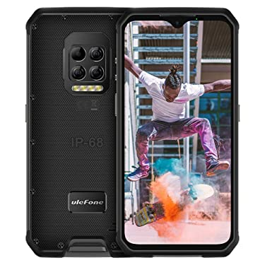 "Ulefone Armor 9 (2020) Unlocked Rugged Phones, Android 10 Helio P90 Octa-core 8GB + 128GB ROM, 64MP Triple Rear Camera + Thermal Imaging Camera, 6.3"" FHD+ 6600mAh Battery Dual 4G Unlocked Smartphones"