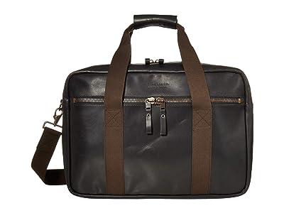 Filson Dawson Leather Duffel (Black) Handbags