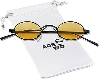 b72c512914 ADEWU Petites lunettes de soleil rondes rétro avec le cadre en métal mince  pour faire des