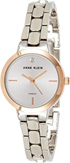 Anne Klein Women's Diamond collection with a White dial and a Sivler Stainless Steel band Watch.