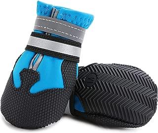 Ulandago Winter Dog Boots Neoprene Nonslip Rubber Sole for Snow (Pack of 4)