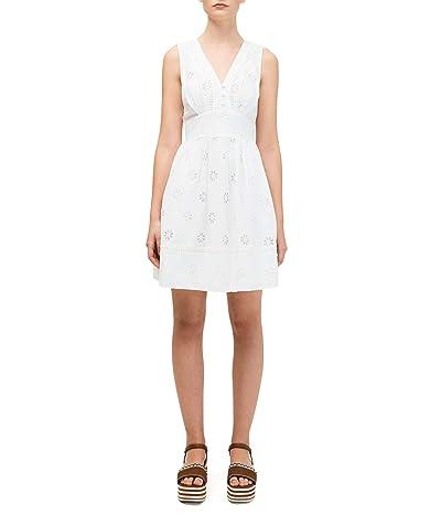 Kate Spade New York Spade Clover Eyelet Mini Dress (Fresh White) Women