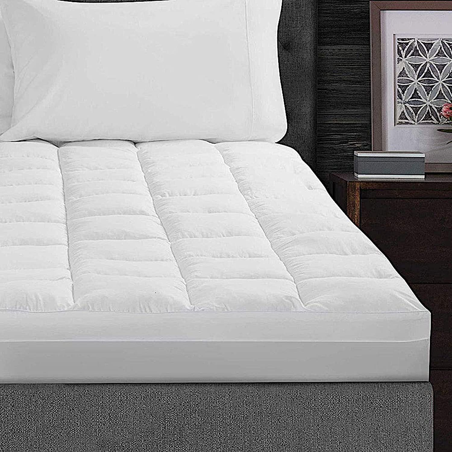Real Simple Fresh & Clean Twin Twin XL Comfort Mattress Fiber bed in White