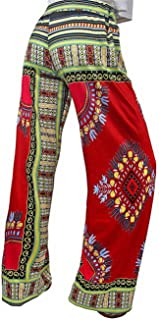 YiyiLai Women Boho Wide Leg Long Palazzo Pants Leisure Adjustable Trouser