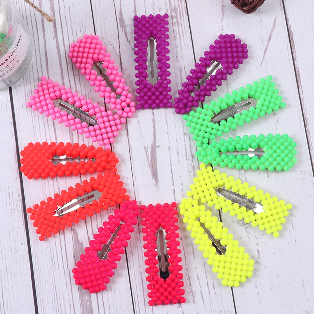 Don't miss the campaign 12 Pcs Colorful Snap shipfree Hair Clip Shape Geometric Fashion Hai Pearl