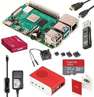 Raspberry Pi 4 Model B Starter Kit Pro/ラズベリーパイ4B(4GB RAM)技適マーク付/MicroSDHCカード32GB NOOBSプリインストール/1つのプレミアムケース/4つのヒートシンクセットと1つ...