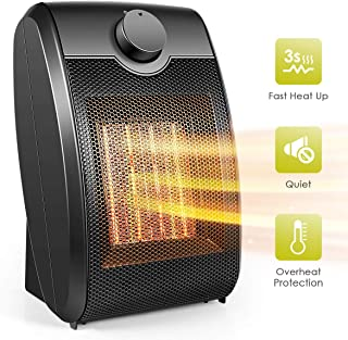 Ceramic Space Heater, Portable Space Heater 1500W / 750W with Overheat Protection & Tip-Over Protection Personal Mini Heater with Adjustable Thermostat Fast Heating - Perfect for Home or Office