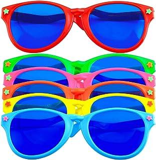 6 Pieces Plastic Sunglasses Colorful Jumbo Glasses for Costumes