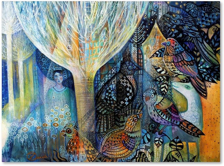Trademark Fine Art Spring by Oxana Ziaka, 14x19 Canvas Wall Art