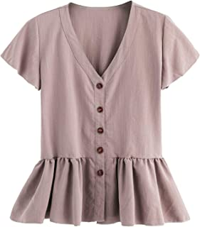 Best light purple peplum top Reviews