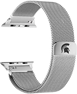 Michigan State Spartans Stainless Steel Band Compatible with The Apple Watch - 42mm/44mm