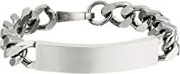 Stainless Steel ID Plate Curb Chain Bracelet