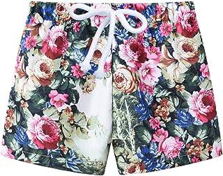 HOSD2019 Verano Nueva Ropa Infantil Estampado de Moda Infantil niños y niñas con Pantalones Cortos Ajustables Pantalones d...