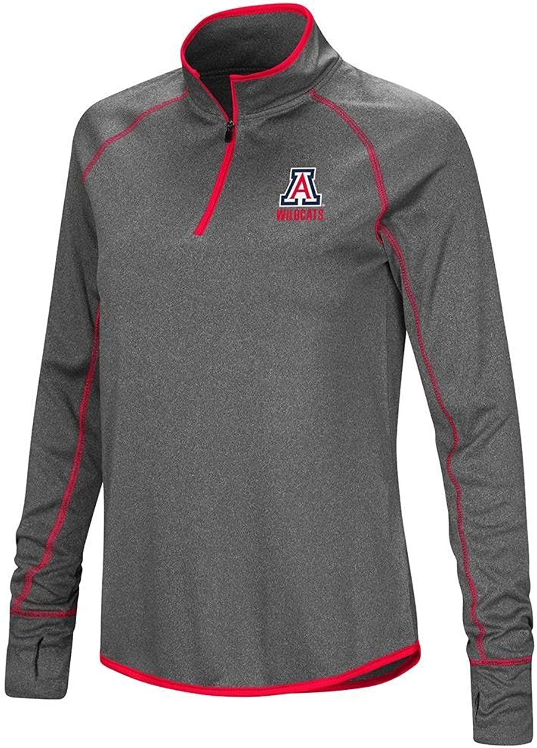 Colosseum Womens Arizona Wildcats Quarter Zip Wind Shirt