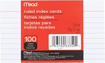 Mead Lined Index Cards, Note Cards, Ruled, 100 Count,  3