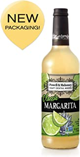 Powell & Mahoney Craft Cocktail Mixers, Classic Margarita, Non Alcoholic, 750ml