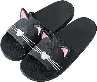 Acfoda Zapatillas de estar por casa para niños, niñas, jóvenes, para verano, con gato, unisex, suaves, antideslizantes, ta...