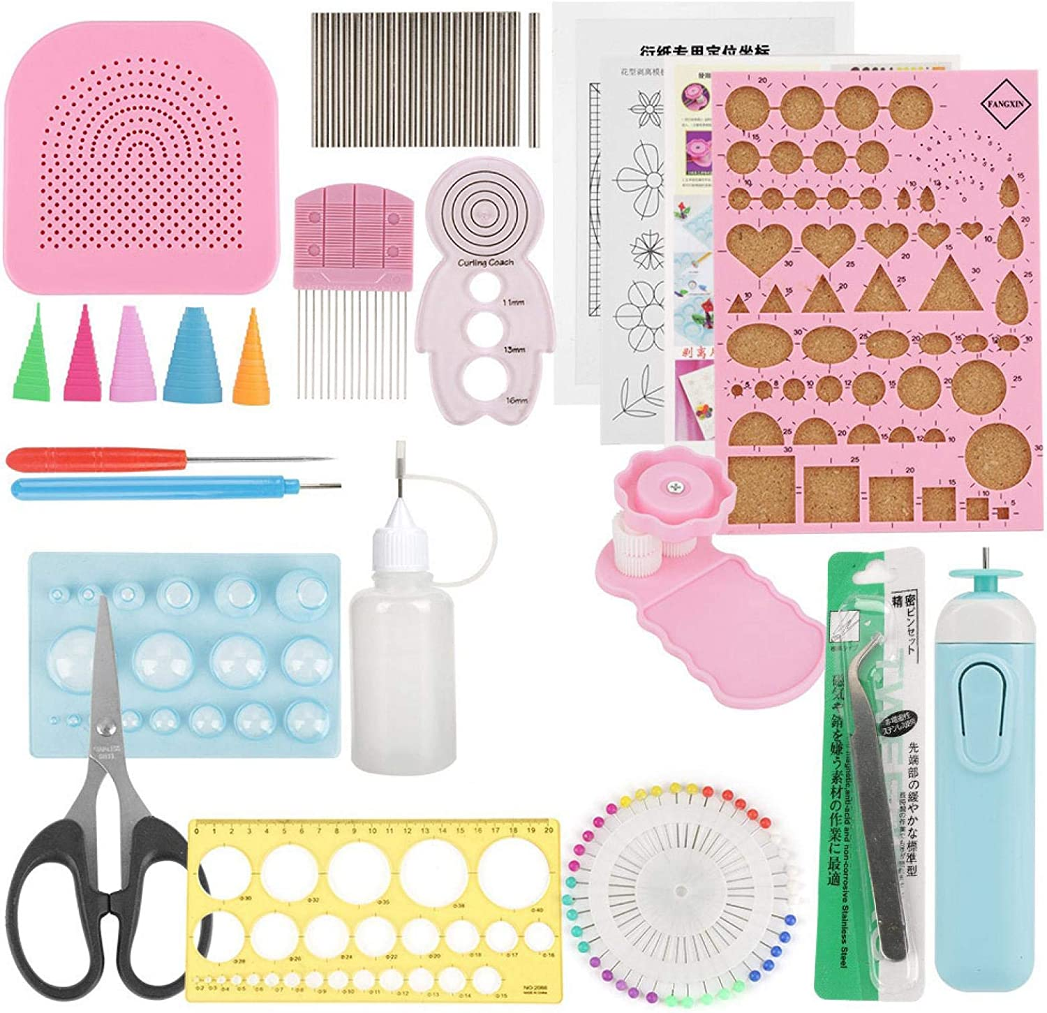 24Pcs Diy Quilling Paper Slotted Craft Tools Sets Decoration Art Columbus Mall Brand Cheap Sale Venue
