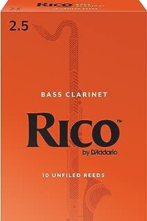 Rico Bass Clarinet Reeds, Strength 2.5, 10-pack
