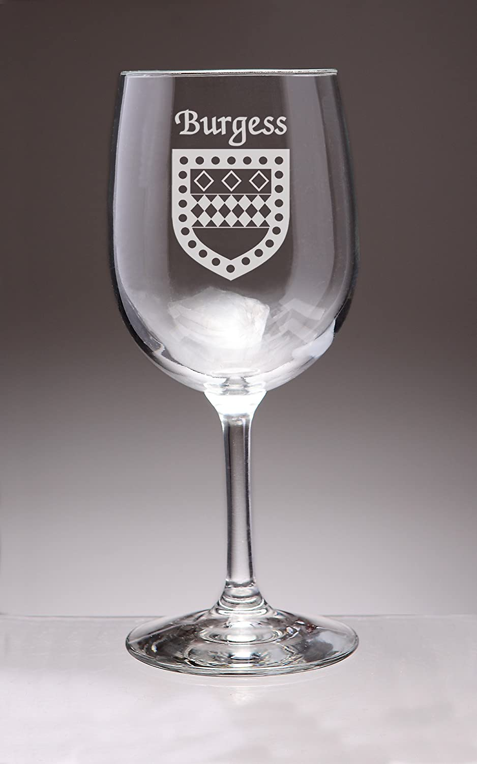 Burgess Irish Coat of Arms Wine 4 Ranking TOP9 Glasses Etched Set Sand Japan Maker New -