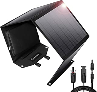 Moongo Tool 60W Foldable Solar Panel Solar Charger for Jackery Explorer 160/Jackery Explorer 240/ Suaoki/Enkeeo/Goal Zero Yeti/Rockpals Portable Power Station Generator and USB Devices, QC3.0 Port