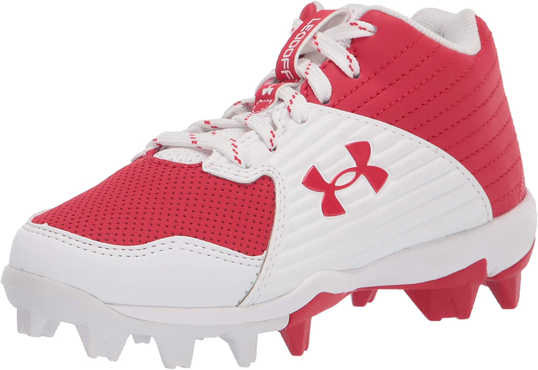 Under Armour Unisex-Child Leadoff Mid Rm Jr. Baseball Shoe