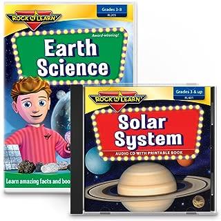 ROCK N LEARN Earth Science & Solar System Set - Earth Science DVD & Solar System Audio CD with Printable Book