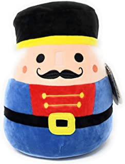 JGT Squishmallows Animal Christmas Squad (1) 12 Inch Logan The Nutcracker Super Soft Plush Toy Pillow Pal (1) Ja'Cor Exclusive Squishy Stress Gear Squeezable, Soft- Bundle of 2